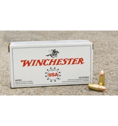 Munitie Winchester 9mm luger FMJ 115 grain