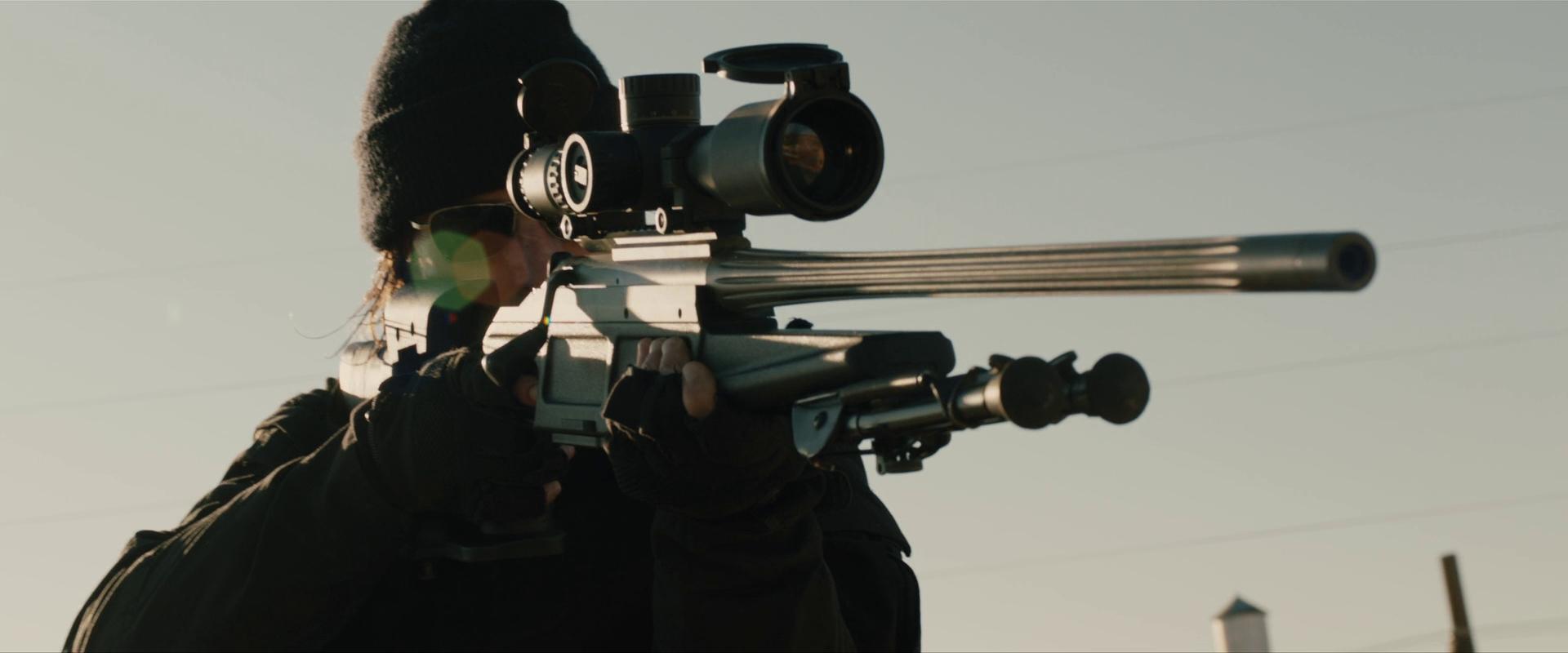 Arma de vanatoare BLASER R93 in filme(Last Stand)