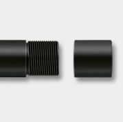 muzzle thread with protective cap